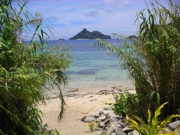 "Monuriki Island from neighboring Vanuya Is., Fiji - Where the movie ""Castaway"" was filmed with Tom Hanks."