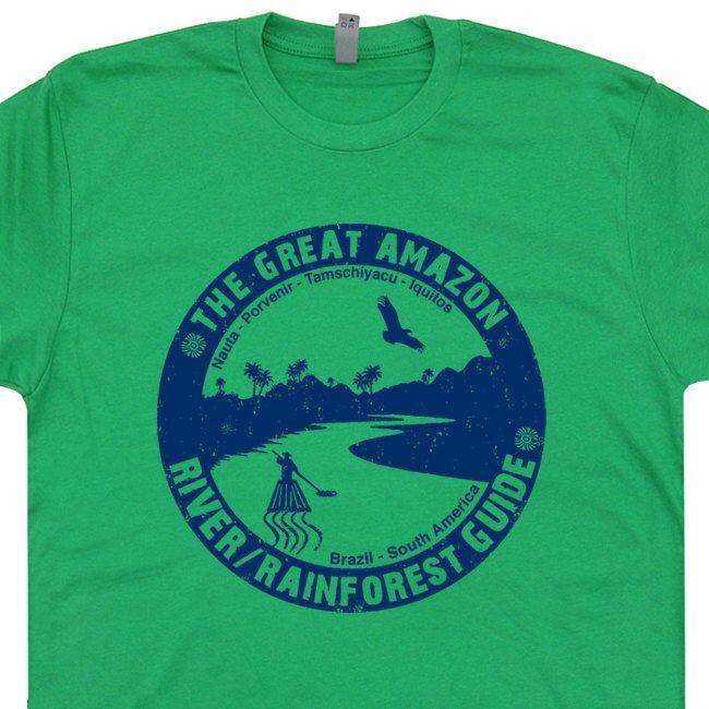 Amazon River Guide T Shirt Kayak Canoe Tee Shirt Canoeing Kayaking Brazil T Shirt mens / womens T Shirt by Shirtmandude on Etsy https://www.etsy.com/listing/110547970/amazon-river-guide-t-shirt-kayak-canoe