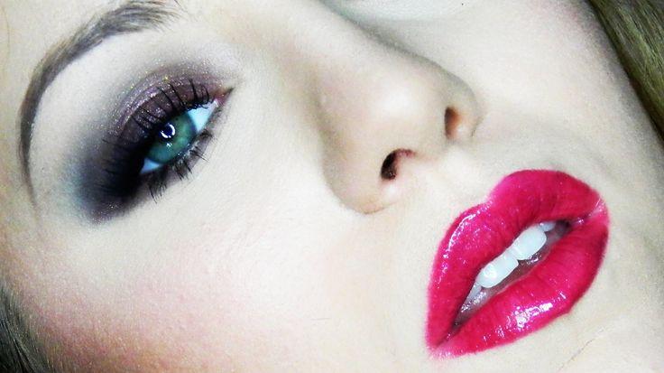 Borgoña & negro (Maquillaje completo Romántico de noche / San Valentín de  GotyMakeUp3)