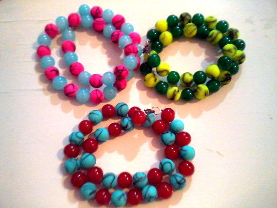 new edition candy necklaces by KaterinakiJewelry on Etsy, $6.80