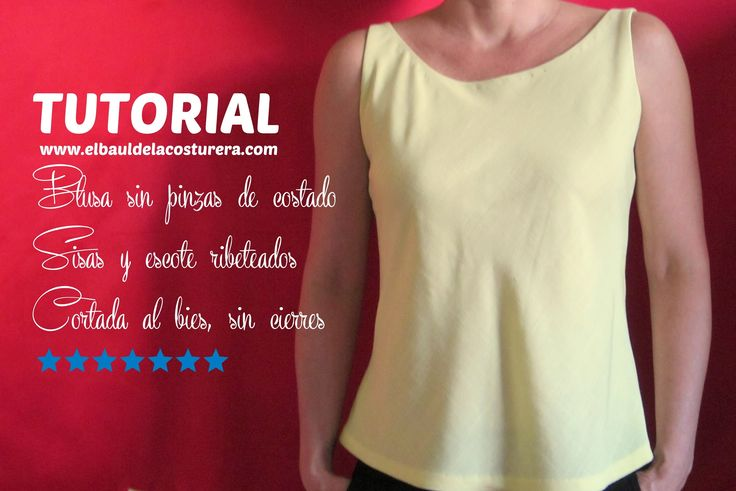 Blusa sin pinzas cortada al bies -  #Dressmaking patterns for FREE - Sewing Dressmaking Clothing - Clothes #Sewing #Tutorials