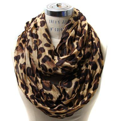 Bulky Leopard Infinity Scarf (Camel) on Amazon for $15!