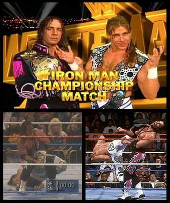 IRON MAN MATCH for the WWF Championship: Shawn Michaels vs. Bret Hart (c), WWF WrestleMania XII, 3/31/1996