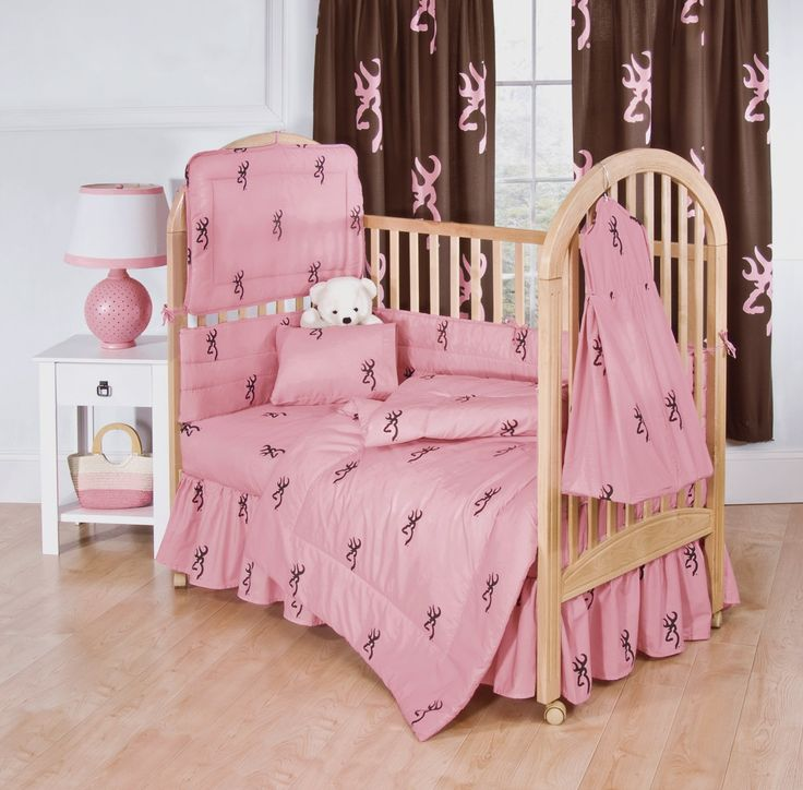 Browning Buckmark Pink 3PC Crib Bedding Set . If I ever have