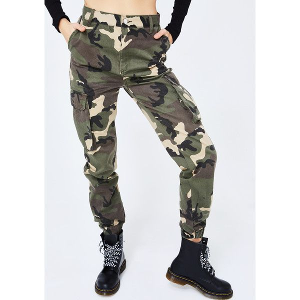 Camo Jogger Cargo Pants featuring polyvore women's fashion clothing pants camo camoflage cargo pants camoflauge cargo pants green cargo pants camo cargo pants camo jogger pants