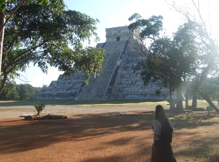 Morgon i Chichen Itza Mexiko