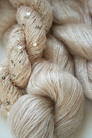 artyarns silk mohair glitter in 164C Silver