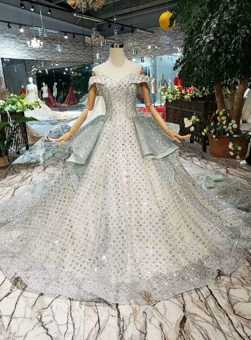 5d824d49006 Silhouette:ball gown Hemline:floor length Neckline:off the shoulder ...