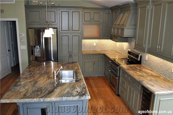 Fusion Quartzite Kitchen Custom Countertops | Custom ...