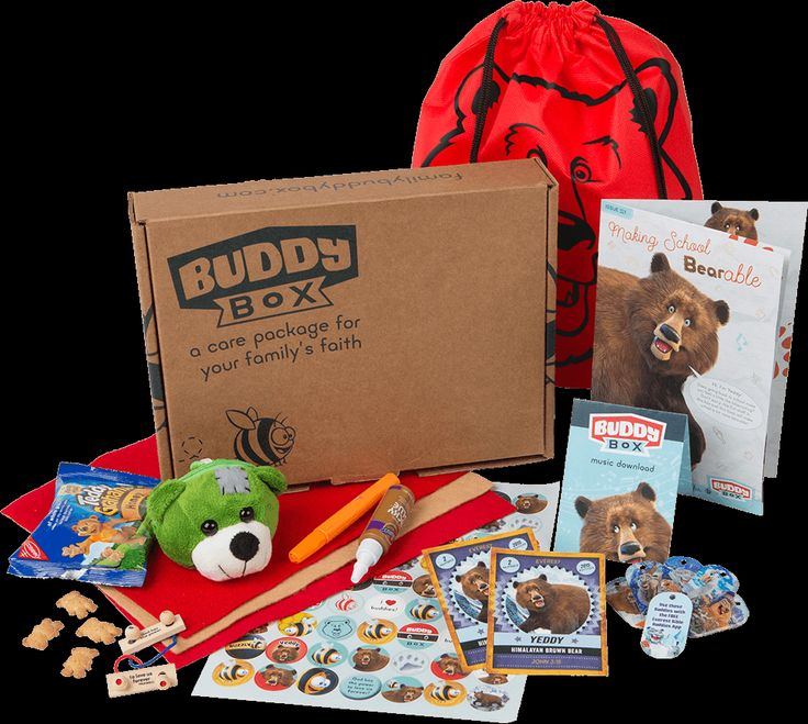 Buddy Box is a monthly subscription box for kids, ages 6-11, to get them excited about growing their faith at home. Every month, Buddy Box delivers a themed faith-filled care package of collectible trading cards, colorful booklets, and more surprises that will help kids see God's love in their lives.