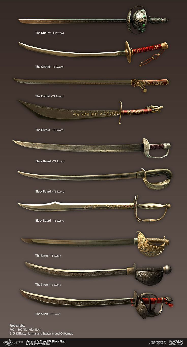 Check out the varying swords! | Pirates | Pinterest ...