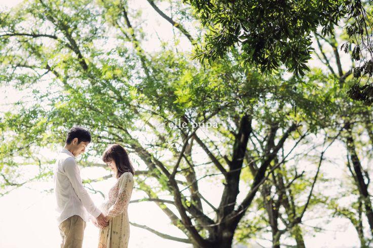 きらきら緑のなかで、マタニティフォト*滋賀 |*elle pupa blog*
