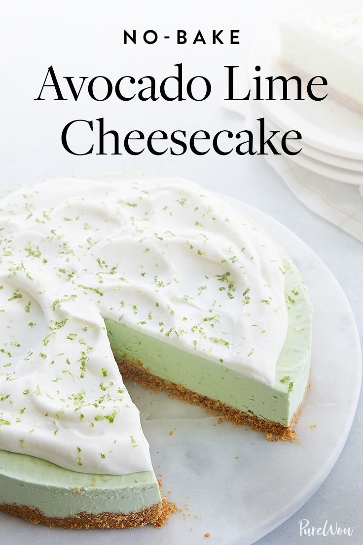 This no-bake avocado lime cheesecake looks fancy, but we promise it's totally foolproof. Get the recipe.