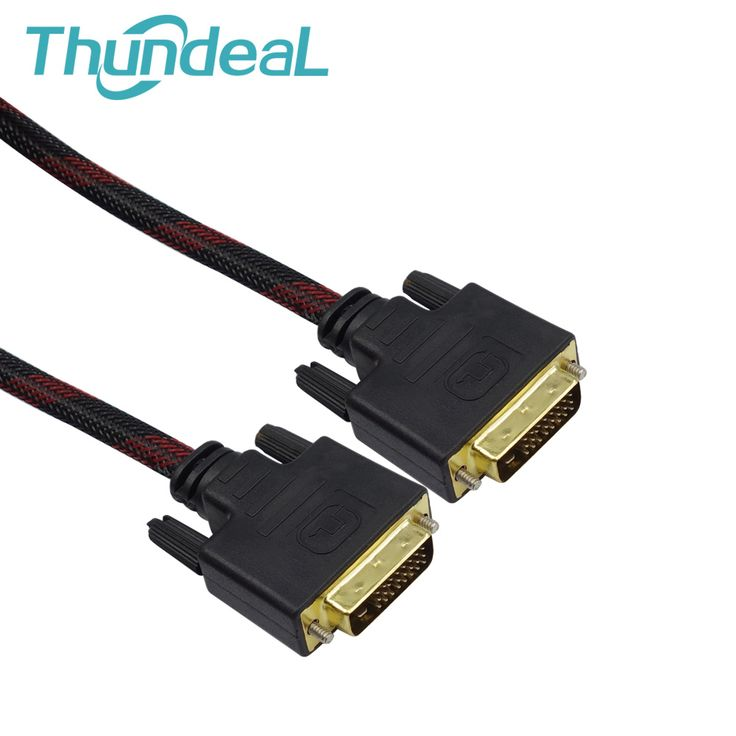 High Speed 1080P DVI to DVI Cable1.5m 3m 5m DVI-D 24+1 pin Male to Male M/M Signal Gold plated Magnetic double ferrite cores