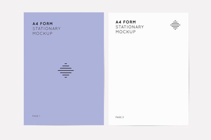 A4 Form Mockups A4 Form Mockup Design Mockup