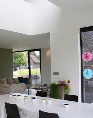 17 best images about interieur inrichting on pinterest vinyls ramen and construction - Moderne woonkamer eetkamer ...