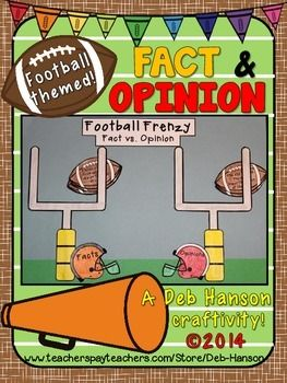 Fact and Opinion Craftivity (featuring football)
