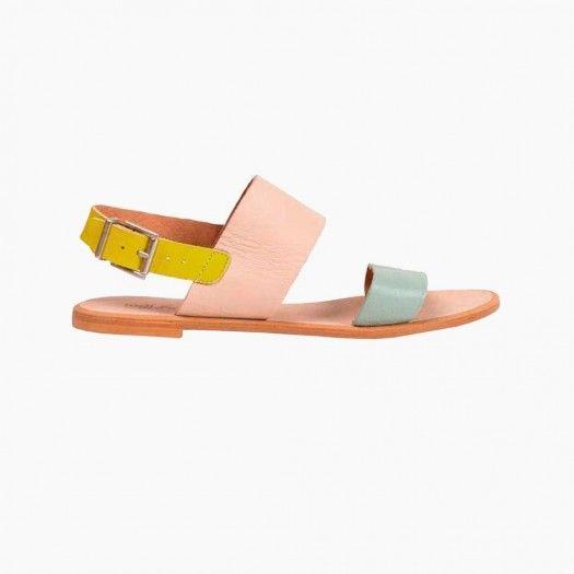 Sandalia plana colores