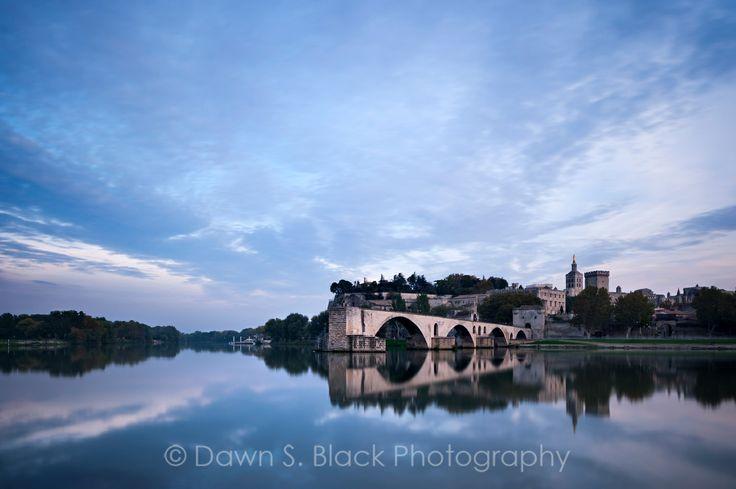 Dusk over Avignon, Provence, France