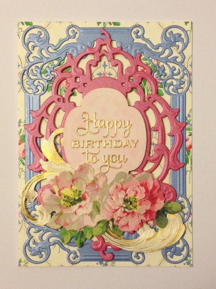 Birthday Card Using Card Makers by Nestabilities Spellbinder