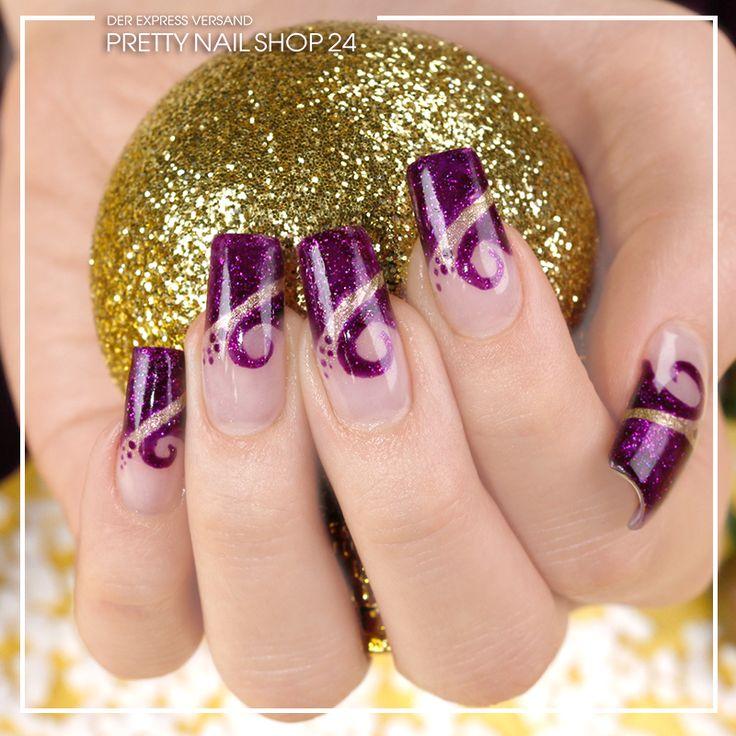 #nails #nailart #aubergine #french Die Farbe Aubergine im verspielten French-Design lässt unsere Augen funkeln. Geht es Euch nicht genau so?