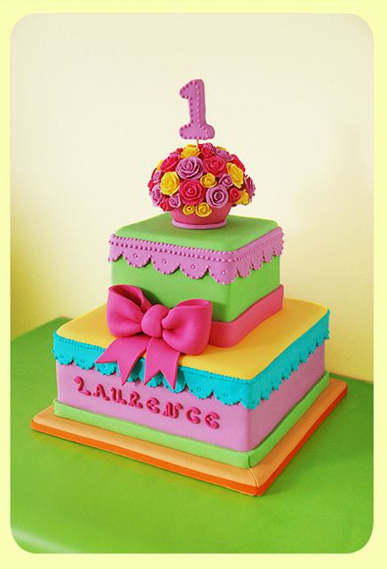 Girly Girl Birthday Cake by LaCaketière, via Flickr