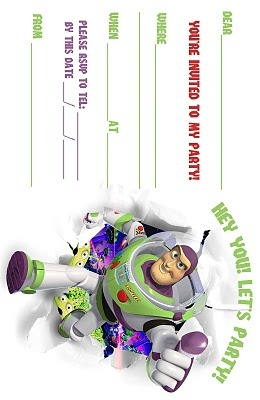 DISNEY COLORING PAGES: TOY STORY BUZZ LIGHTYEAR FREE PRINATBLE PARTY INVITATIONS