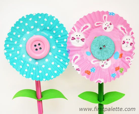 Step 6c Cupcake Liner Flowers craft