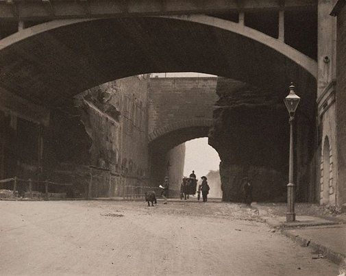 Harold Cazneaux  Argyle Cut (looking west)   circa 1912