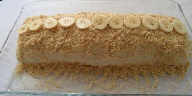 Pratik Tatlı Tarifi : Bisküvili Muzlu Pasta