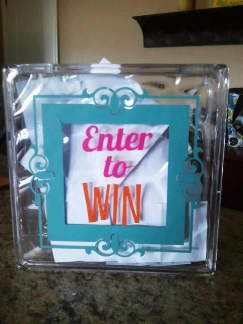 Great idea for vendor events! Uppercase Living Vinyl Acrylic Block - Thought for the Showcase