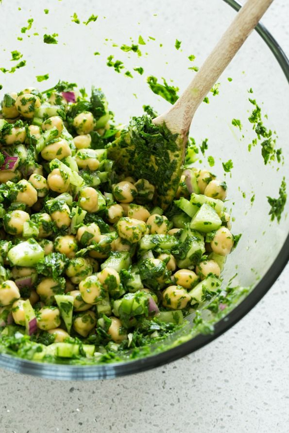 Eat Your Greens Chickpea Medley. There's a whole bag of spinach and a cup of green herbs in this recipe!
