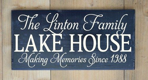 Unique Lake House Decor Personalized Life Is Better At The Lake Painted Custom Wood Sign - NO VINYL  Welcome to Personalized House Sign Designs. Each sign is designed by me and custom made at the ti
