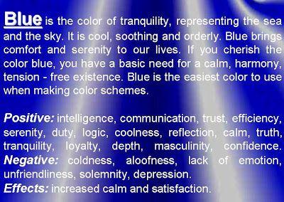 Psychology Of Color Blue Colour Pinterest