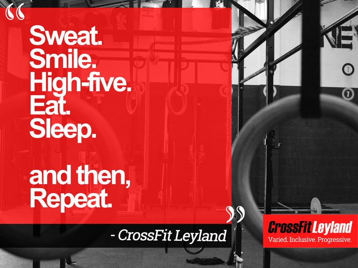 Sweat. Smile. High-five. Eat. Sleep.⠀ and then, Repeat. ⠀ - CrossFit Leyland⠀ ⠀ -⠀ -⠀ -⠀ #Crossfit #TeamCFL #CFL #crossfitleyland #smashit #PB #thebox #gym #fitness #leyland #preston #chorley #WOD #weights #fitspiration #lift #community #progress #inclusive #routine #workoutmotivation #community #proud #crossfitUK #motivate #workout #motto #quote #quotation