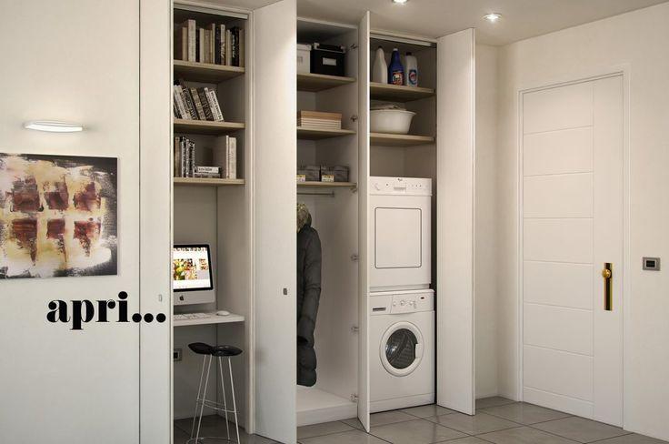 Chiudi un'anta e la lavanderia sparisce. Apri un armadio e compare il tuo angolo studio. Vuoi nascondere con armadiature su misura ripostigli, guardaroba, lavatrici, impianti e tante altre attrezzature utili [...]