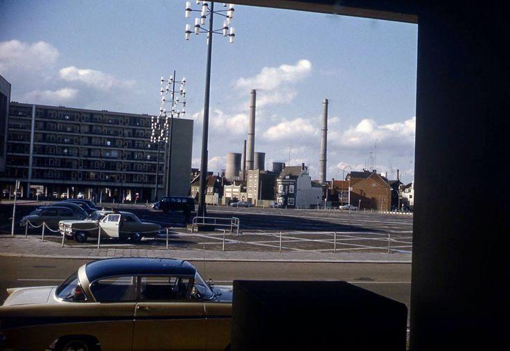Blik op Laanderstraat en Geerstraat met natuurlijk op de achtergrond de ON1 in 1966