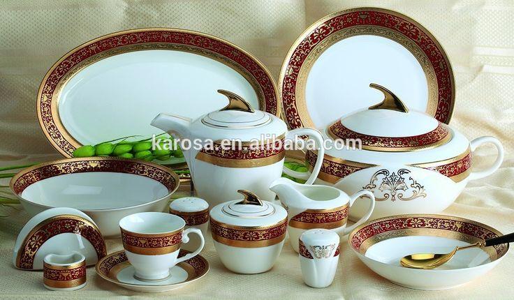 Goud en rood ontwerp van porselein servies in nieuwe moderne stijl-afbeelding-servies sets-product-ID:60205875343-dutch.alibaba.com
