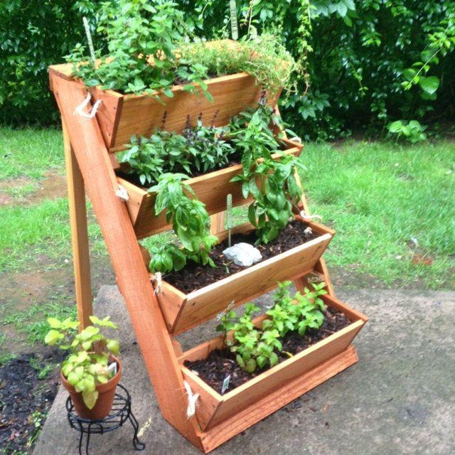 Vertical Herb Garden Planter Succulent Vegetable Bin