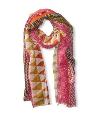 67% OFF Saachi Women's Desert Aztec Scarf, Fuchsia/Orange