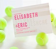 keen on neon green! Letterpress wedding invitations by Bella Figura
