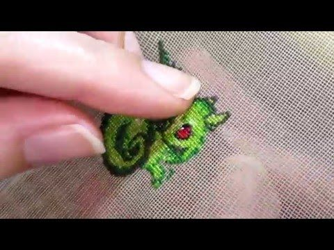 Double sided stitch, Dragon with PAG embroidery technique - YouTube