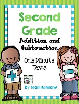 This download includes both addition and subtraction One Minute Math Timed Tests.Addition Tests from 11+ to 20+Subtraction Tests 11- to 20-This packet can be used to start your second grade year. This will assess students fluency with their math facts.