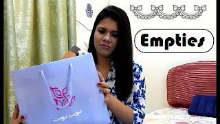 Hey Emoz,  Here I am sharing with you my empties in the near past. To know which are my favourites and which ones I regret buying, keep watching...  Hope u ol like dis video, if so give us a like n subscribe coz its freee.....  Follow us on TWITTER : https://twitter.com/DZrandomzz FACEBOOK : https://www.facebook.com/DZrandomzz INSTAGRAM : https://instagram.com/DZrandomzz