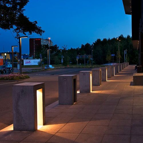 Garden bollard light / contemporary / concrete / LED BEDO XENON Architectural Lighting