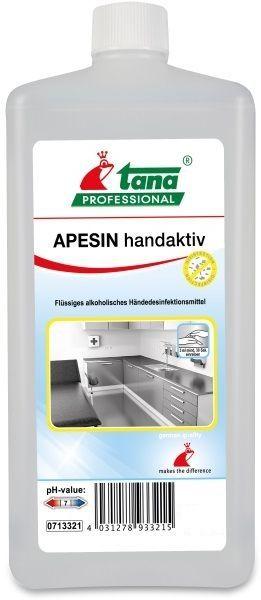 Apesin Handaktiv este un produs pentru dezinfectie igienica si chirurgicala a mainilor, protejeaza pielea.