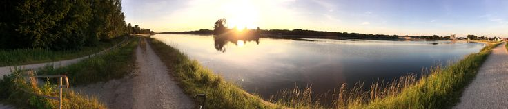 A panorama taken at the Danube river in Ingolstadt Germany [OS] [13632x2946]