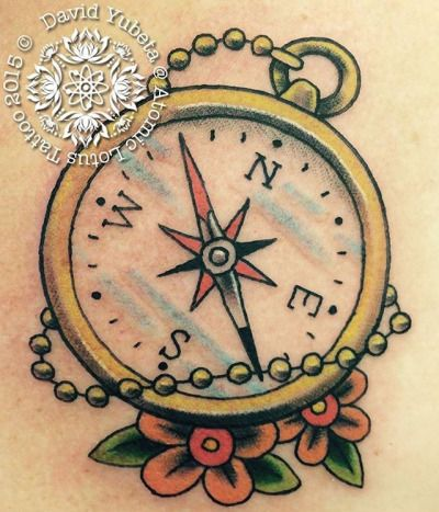 17 mejores ideas sobre Traditional Compass Tattoo en ...
