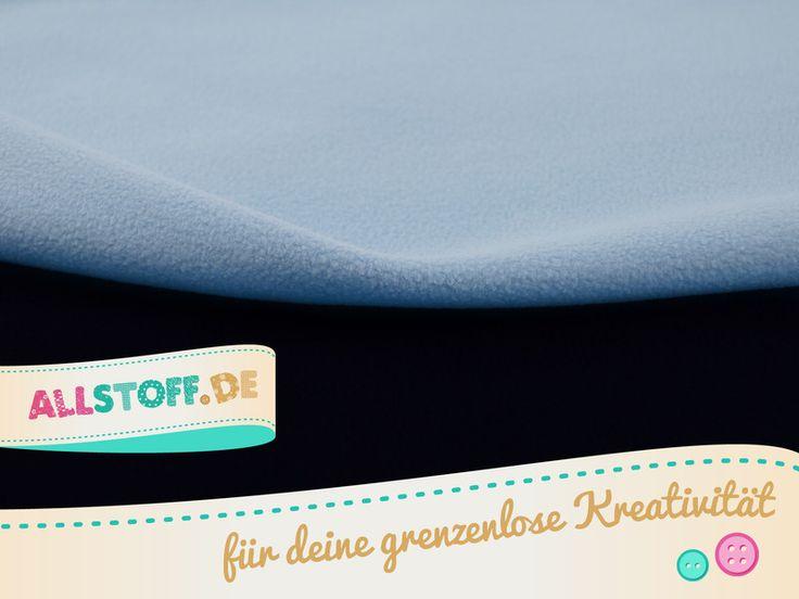 Stoffe uni - Double Fleece Stoff dunkelblau-hellbla - ein Designerstück von AllStoff bei DaWanda