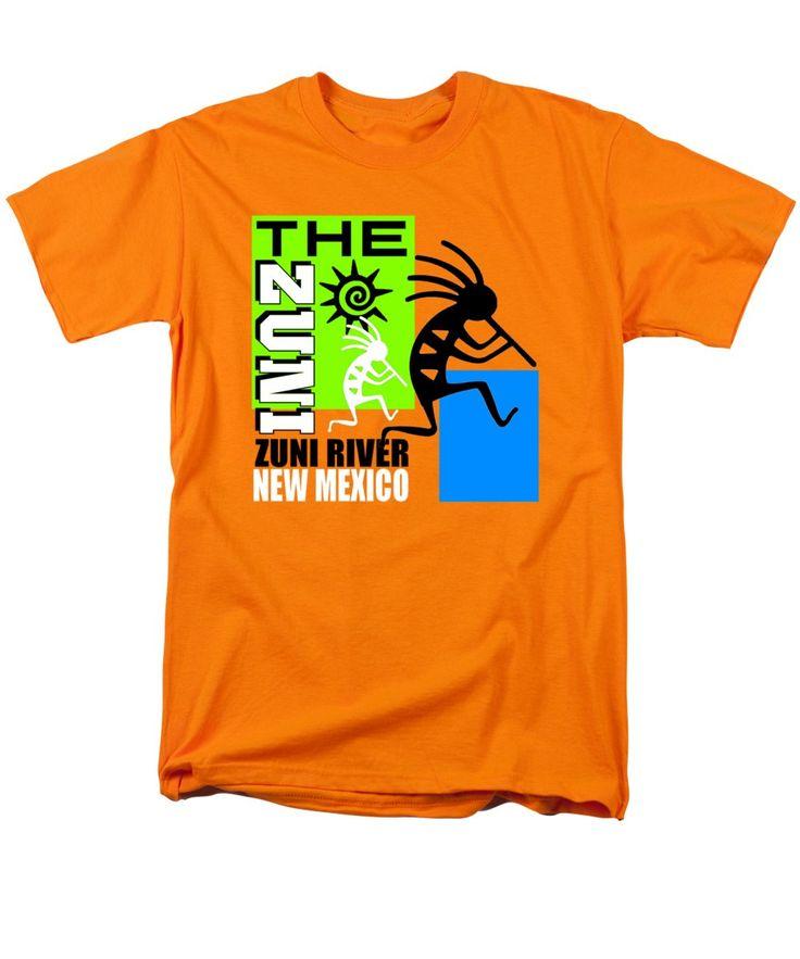 The Zuni (zuni: A:shiwi; Formerly Spelled Zuni) Are A Federally Recognized Native American Men's T-Shirt (Regular Fit) featuring the digital art The Zuni-2 by Otis Porritt